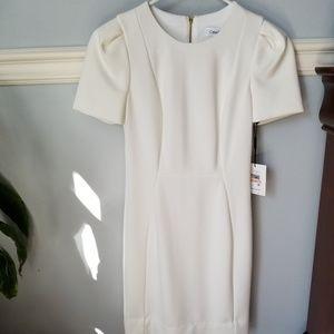 Calvin Klein White Dress New 2P